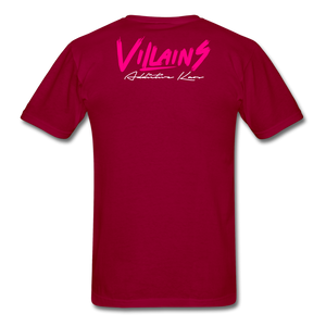 Villains  T-Shirt - dark red