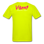 Villains  T-Shirt - safety green