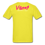 Villains  T-Shirt - yellow