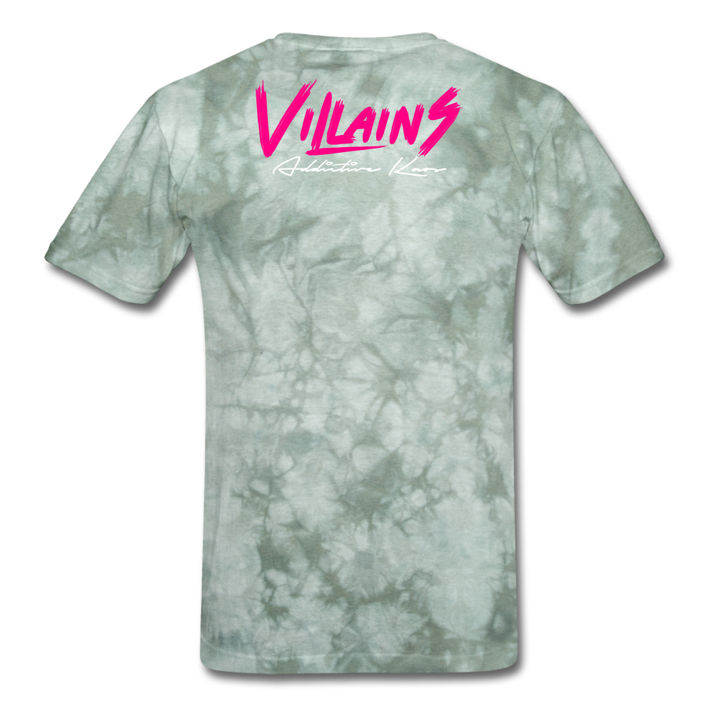 Villains  T-Shirt - military green tie dye