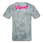 Villains  T-Shirt - grey tie dye
