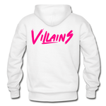 Villains Adult Hoodie - white