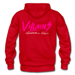 Villains Adult Hoodie - red