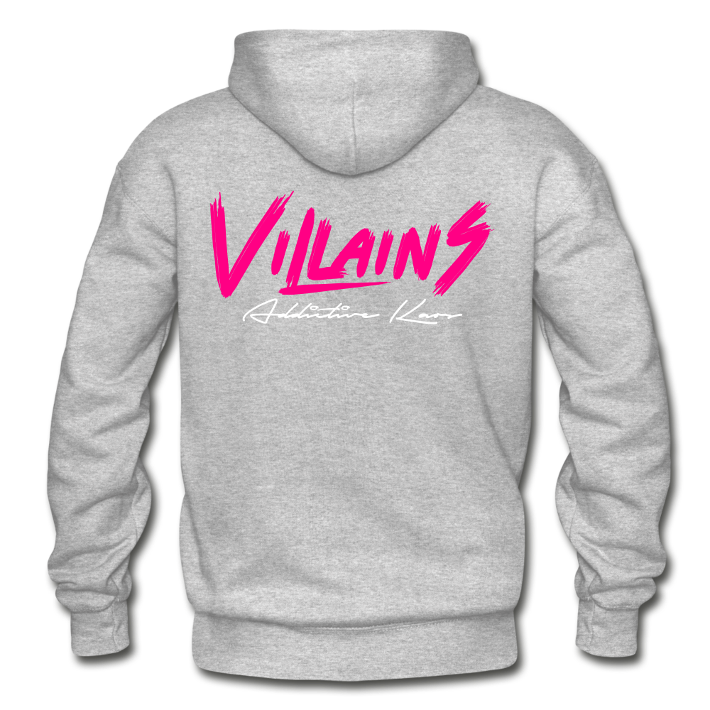 Villains Adult Hoodie - heather gray