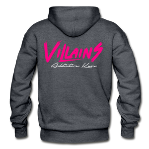 Villains Adult Hoodie - charcoal gray