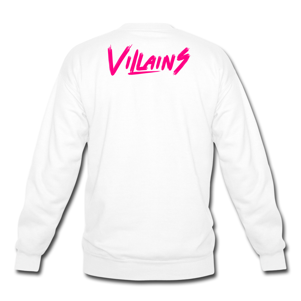 Villains Crewneck Sweatshirt - white