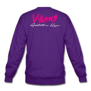 Villains Crewneck Sweatshirt - purple
