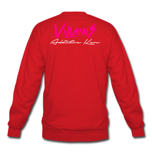Villains Crewneck Sweatshirt - red
