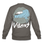 Villains Lust Crewneck Sweatshirt - asphalt gray