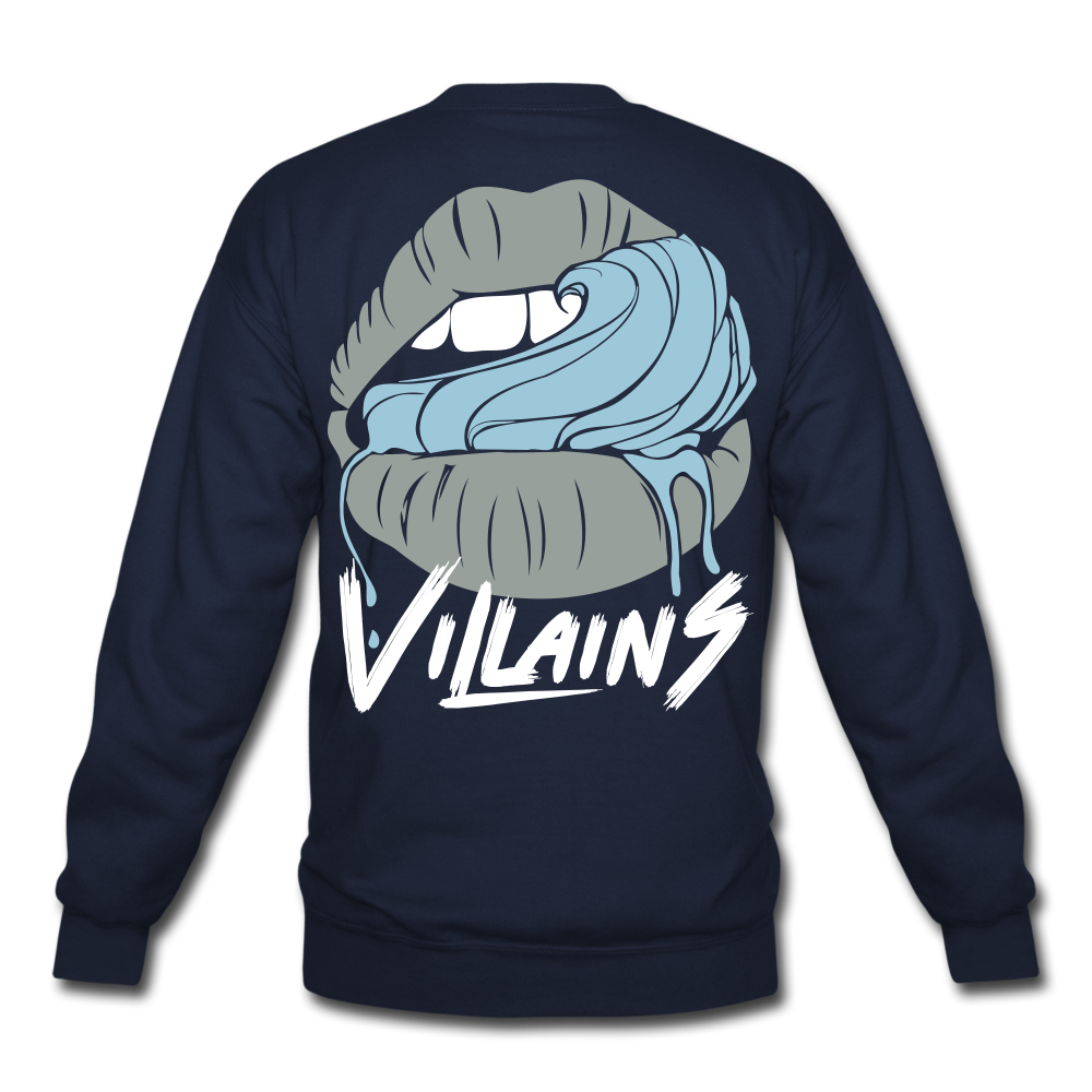 Villains Lust Crewneck Sweatshirt - navy