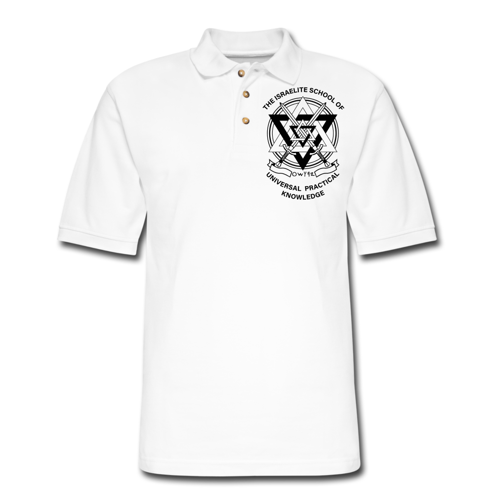 ISUPK  Polo Shirt2 - white