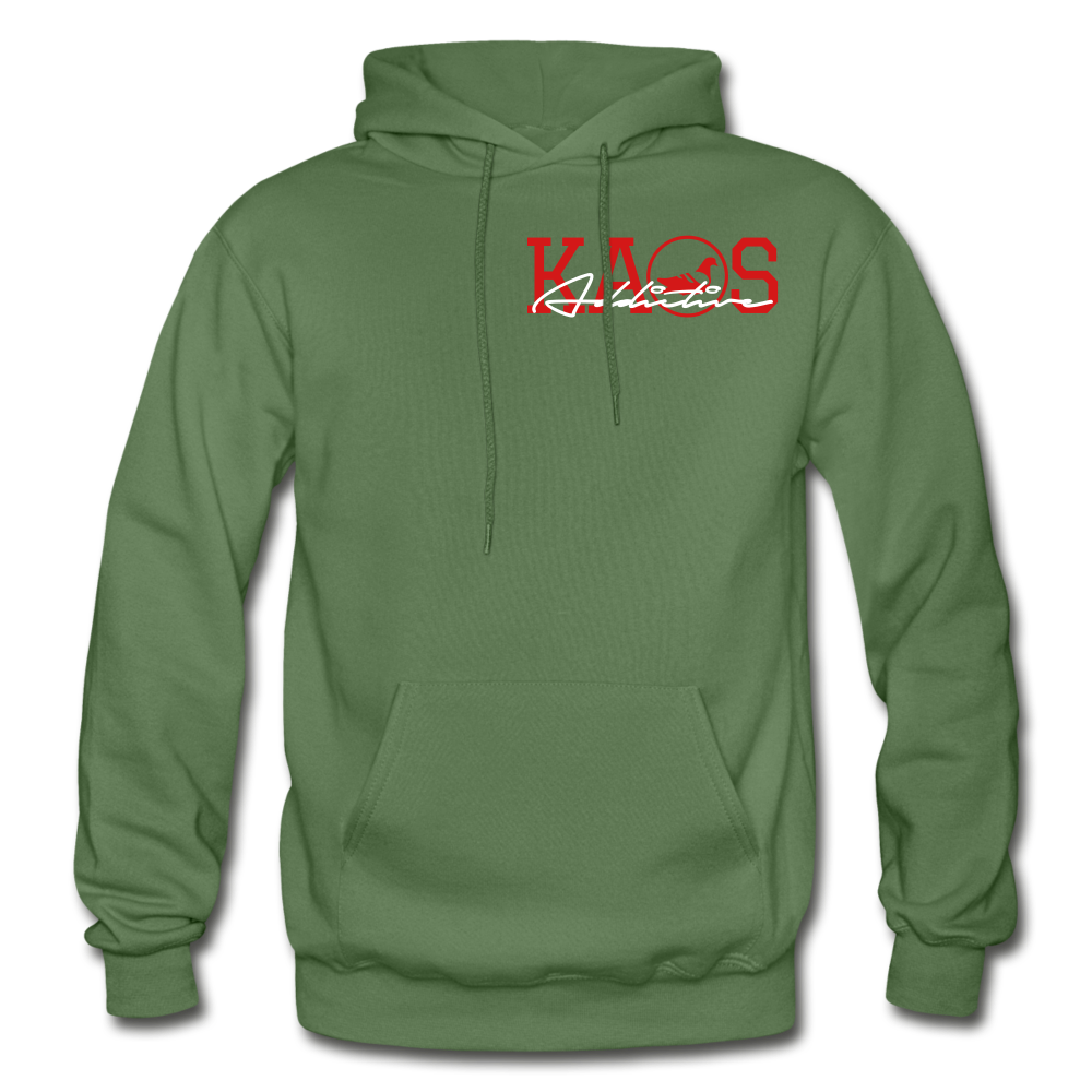 Anime 1 Adult Hoodie - military green