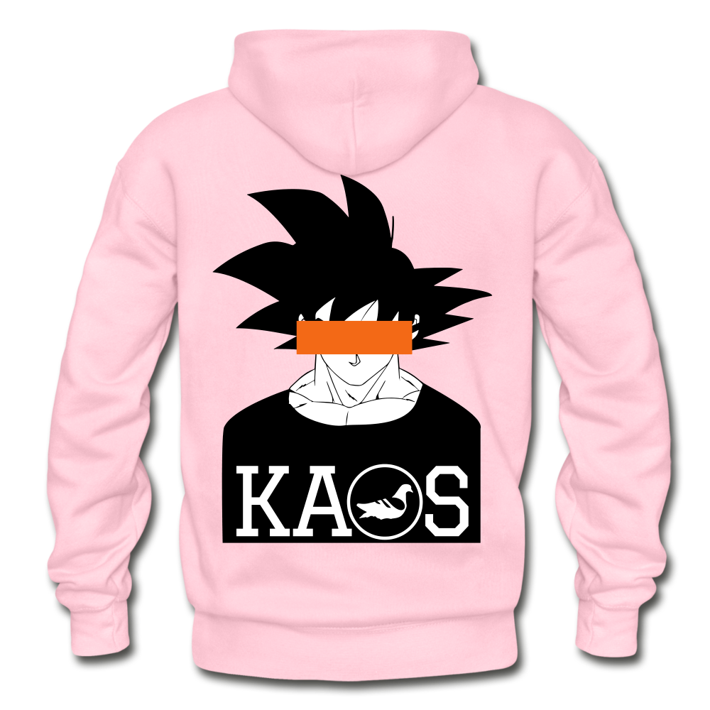 Anime 3 Adult Hoodie - light pink