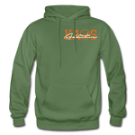 Anime 3 Adult Hoodie - military green