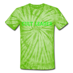 Cult Leader AK Tie Dye T-Shirt - spider lime green