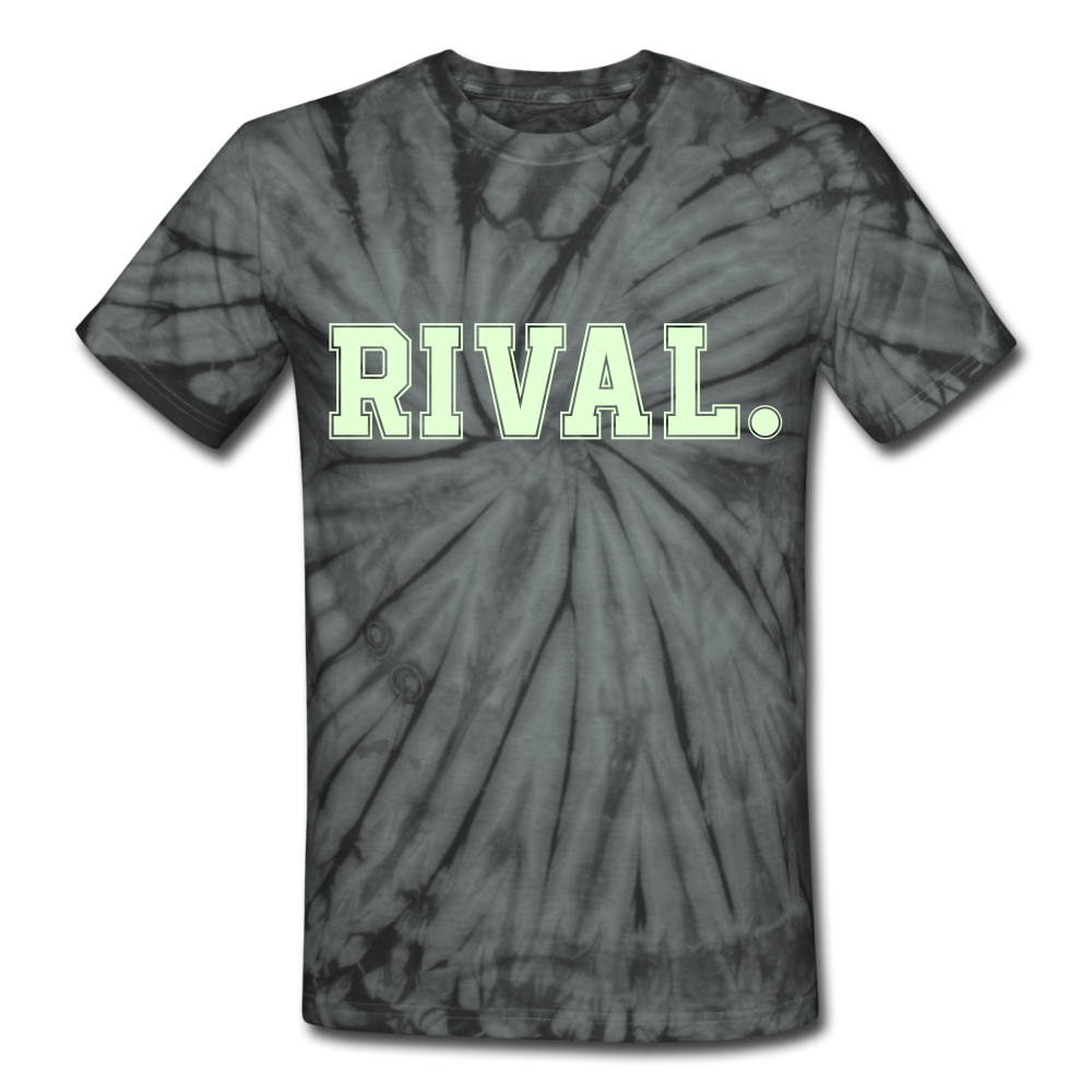 Rival. Tie Dye T-Shirt - spider black