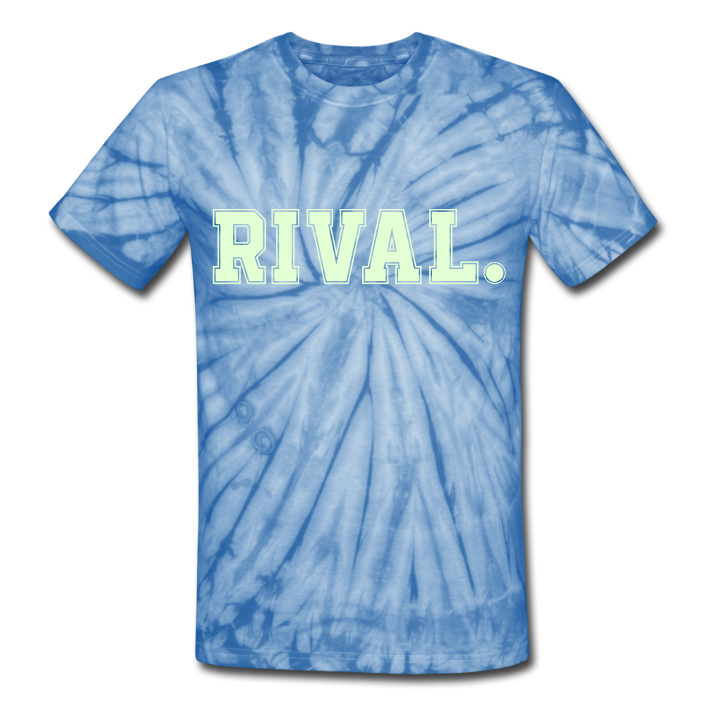 Rival. Tie Dye T-Shirt - spider baby blue