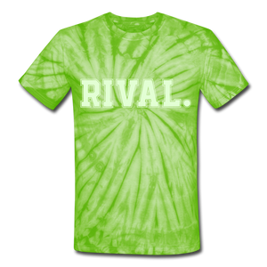 Rival. Tie Dye T-Shirt - spider lime green
