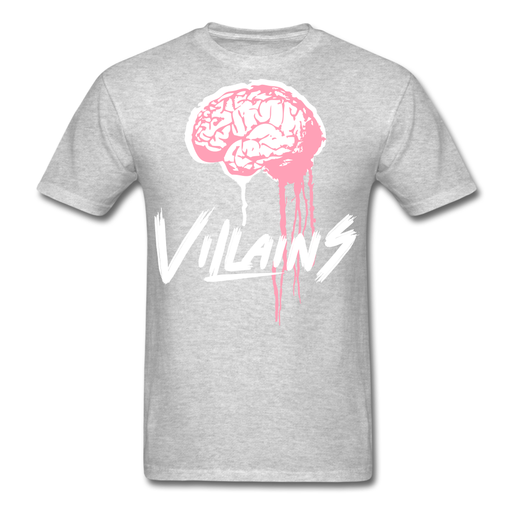 Villain Brain of opp T-Shirt - heather gray