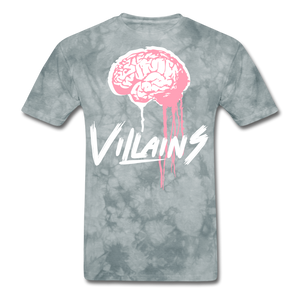 Villain Brain of opp T-Shirt - grey tie dye