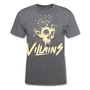 Villains Death T-Shirt - mineral charcoal gray