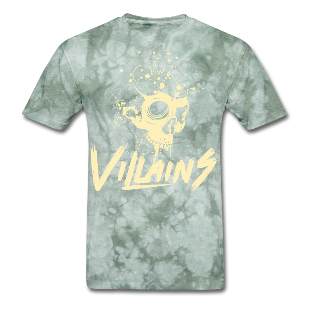 Villains Death T-Shirt - military green tie dye