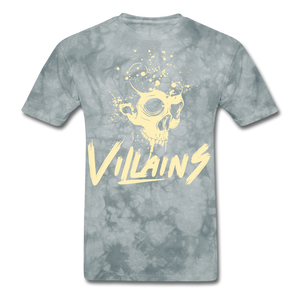 Villains Death T-Shirt - grey tie dye