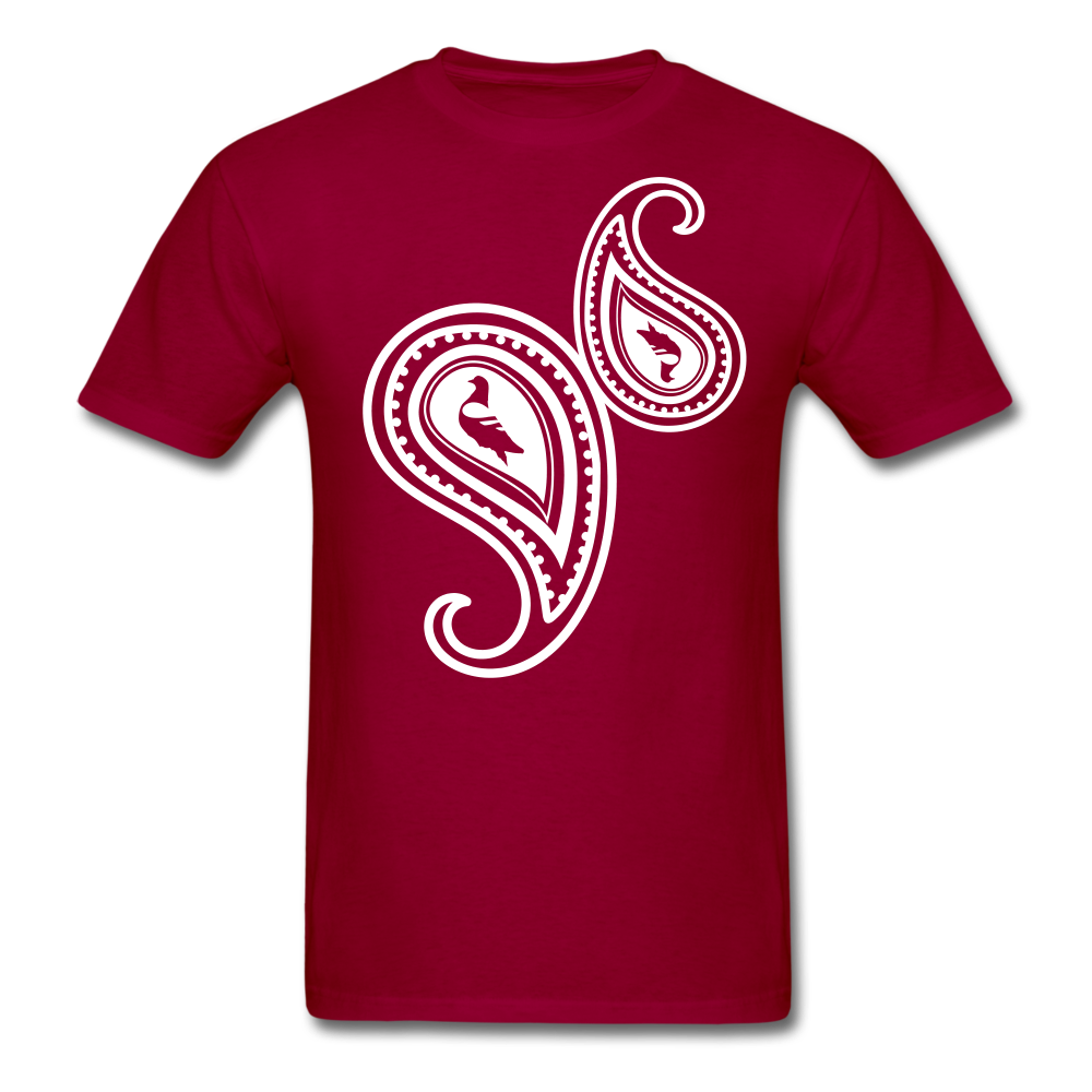 Paisley T-Shirt - dark red