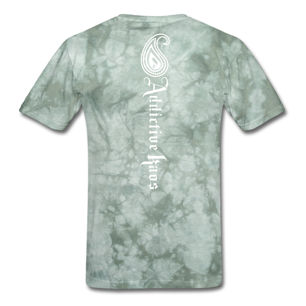 Paisley T-Shirt - military green tie dye