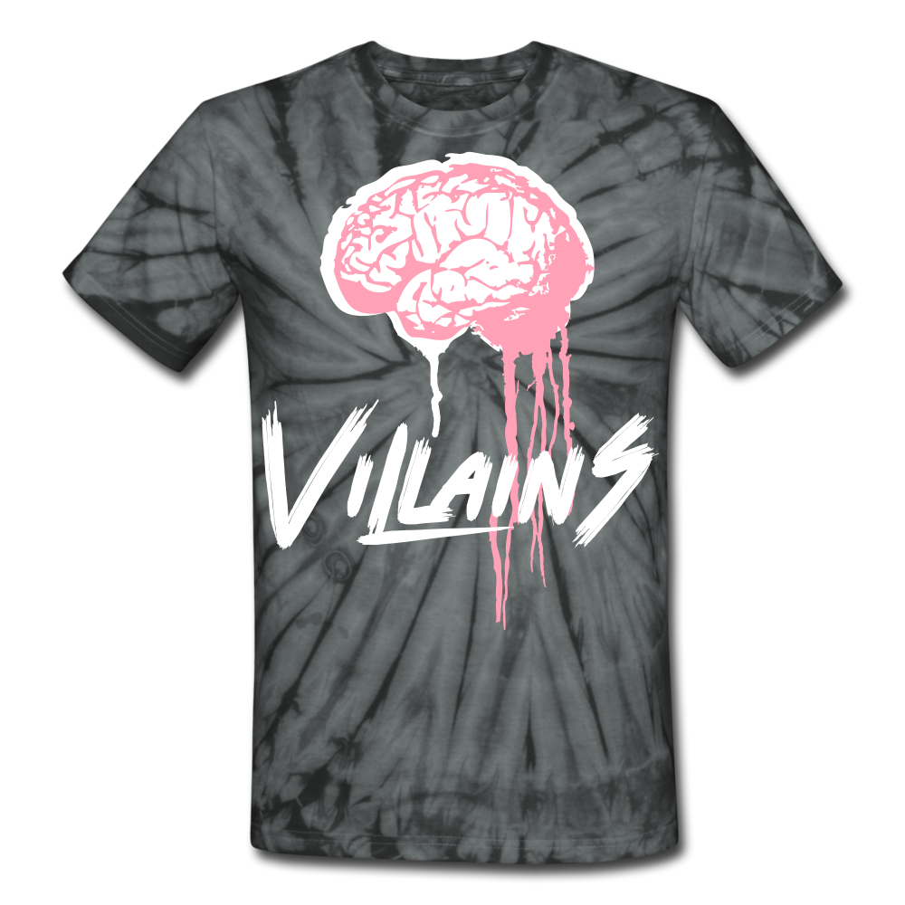 Villain Brain of opp Tie Dye T-Shirt - spider black