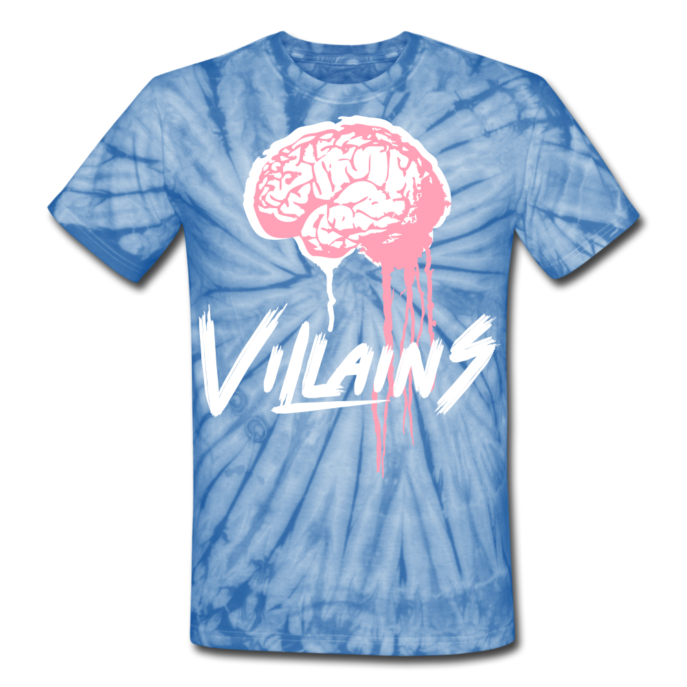 Villain Brain of opp Tie Dye T-Shirt - spider baby blue