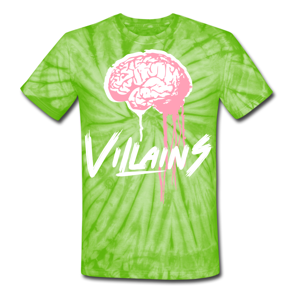 Villain Brain of opp Tie Dye T-Shirt - spider lime green