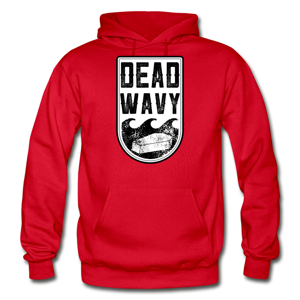 Dead Wavy Classic Adult Hoodie - red