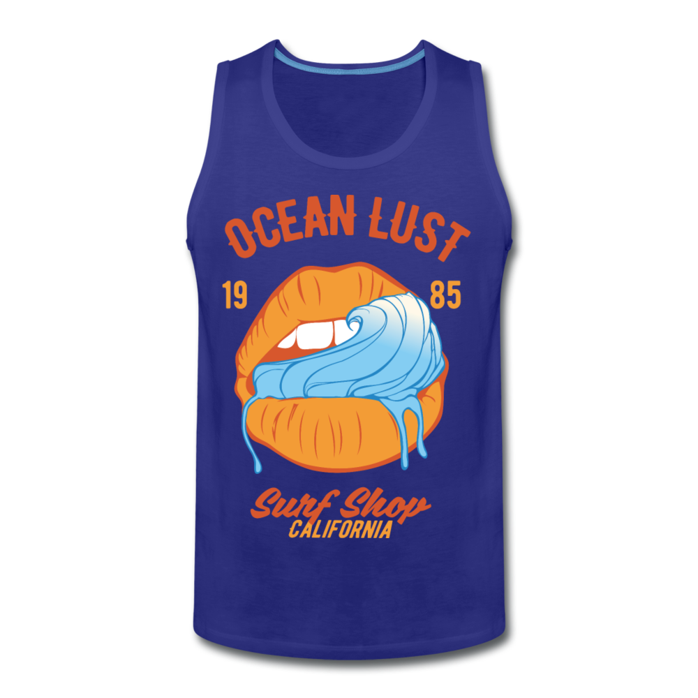 Ocean Lust Premium Tank - royal blue