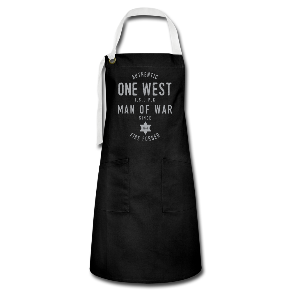 Man Of War Apron - black/white