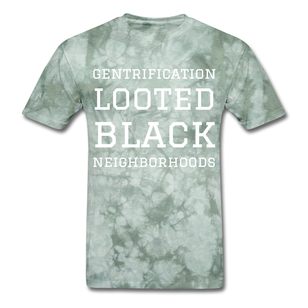 Looted Men's T-Shirt - military green tie dye