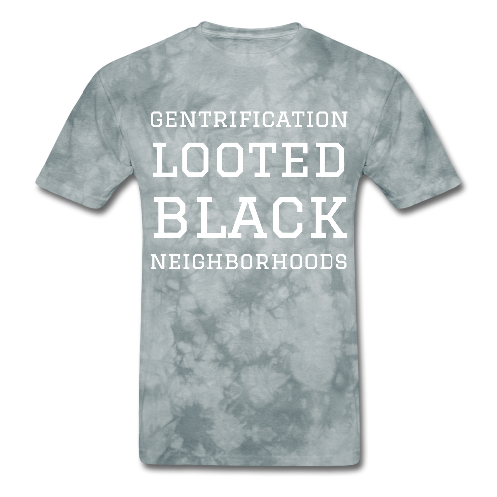 Looted Men's T-Shirt - grey tie dye