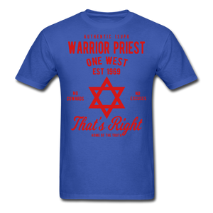Warrior Priest (Capt. Special ) Short-Sleeve T-Shirt - royal blue