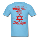 Warrior Priest (Capt. Special ) Short-Sleeve T-Shirt - aquatic blue