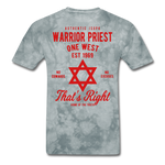 Warrior Priest (Capt. Special ) Short-Sleeve T-Shirt - grey tie dye