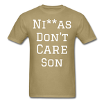 Don't Care  T-Shirt - khaki