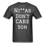Don't Care  T-Shirt - heather black