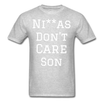 Don't Care  T-Shirt - heather gray
