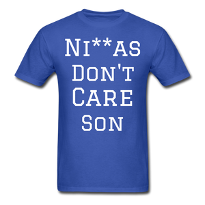 Don't Care  T-Shirt - royal blue