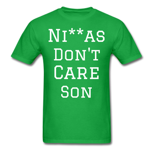 Don't Care  T-Shirt - bright green