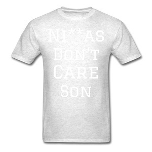 Don't Care  T-Shirt - light heather gray