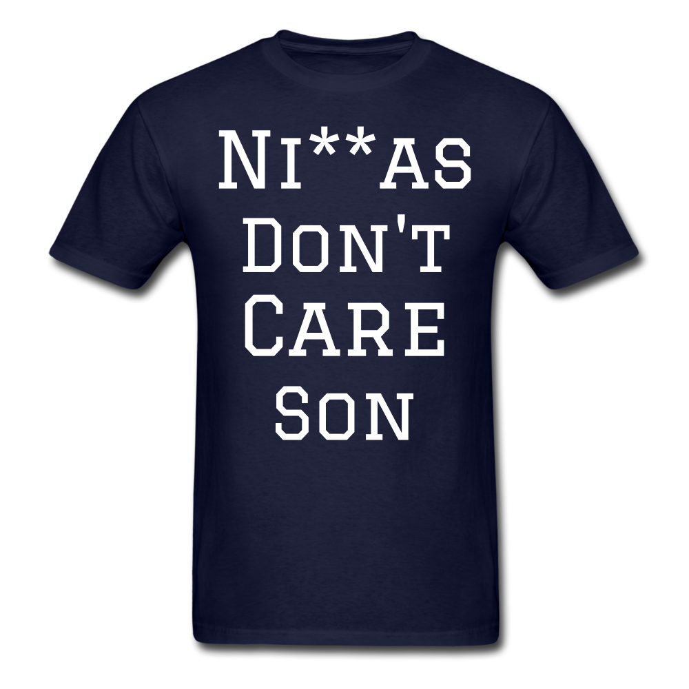 Don't Care  T-Shirt - navy