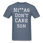 Don't Care  T-Shirt - denim
