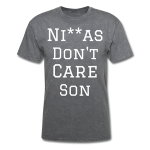 Don't Care  T-Shirt - mineral charcoal gray