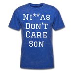 Don't Care  T-Shirt - mineral royal